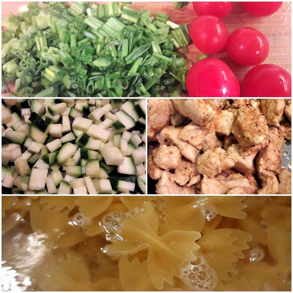 przygotowanie makaronu z delikatnym sosem