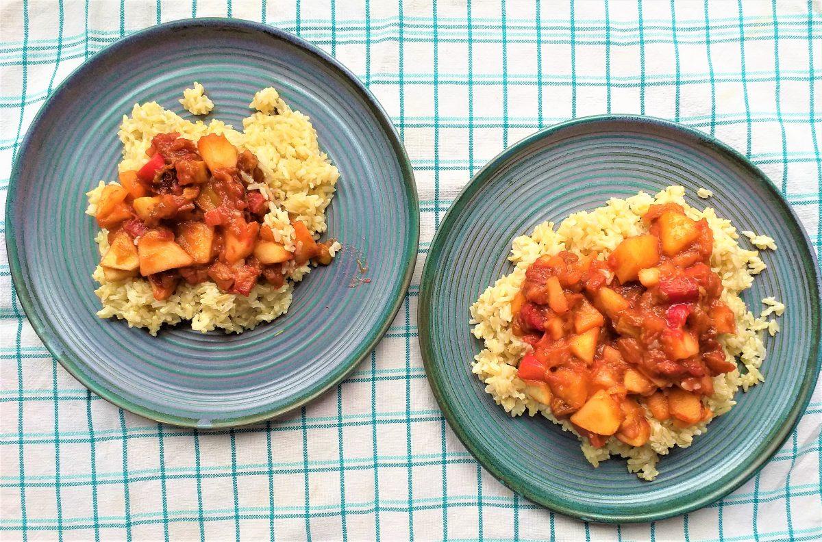 ryż z rabarbarem
